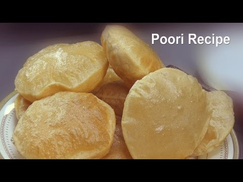 Poori Recipe - How To Make Puri -  Soft Puri Recipe