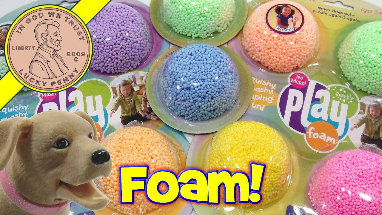 Squishy Foam : Glitzy Playfoam - Squishy, Squashy, Shaping Fun...I make a dog bed! - YouTube