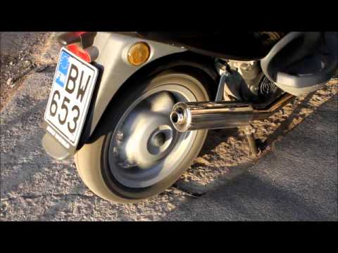 piaggio fly 125 et4 exhaust - youtube