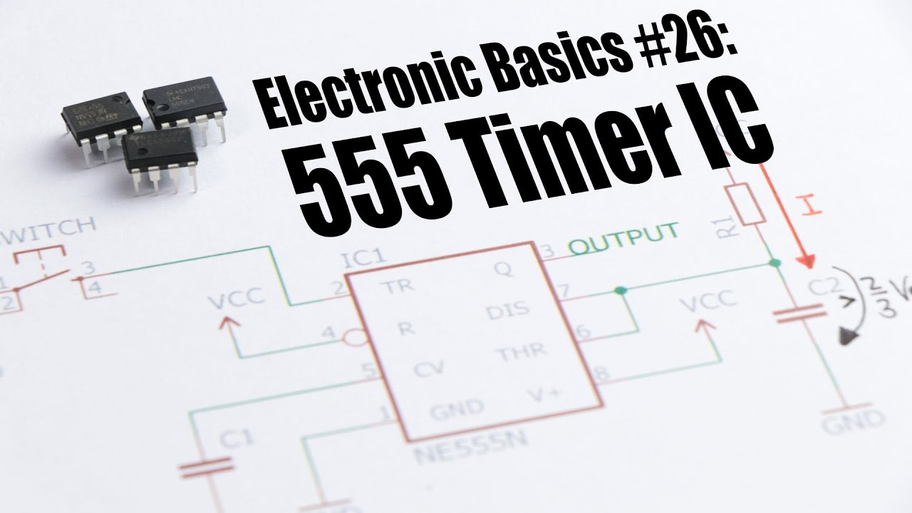 Electronic Basics 26 555 Timer Ic Youtube Astable Multivibrator Using Ne Circuit Diagram