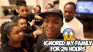 IGNORING MY FAMILY FOR 24 HOURS!! *GONE WAY TOO FAR* | DuB Family
