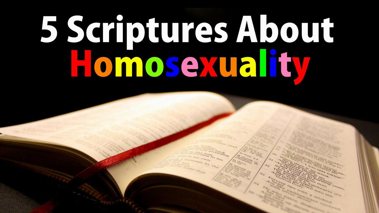 Old testament quotes about homosexuality