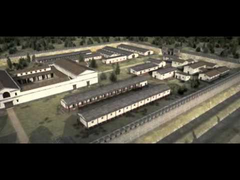 Castro de Saalburg 3d  Virtual roman castrum
