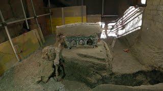 Eros e nozze, ritrovato a Pompei un carro unico: