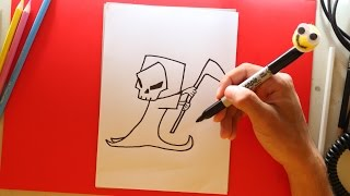 How to Draw Grim Reaper Step by Step Justin Time For Halloween