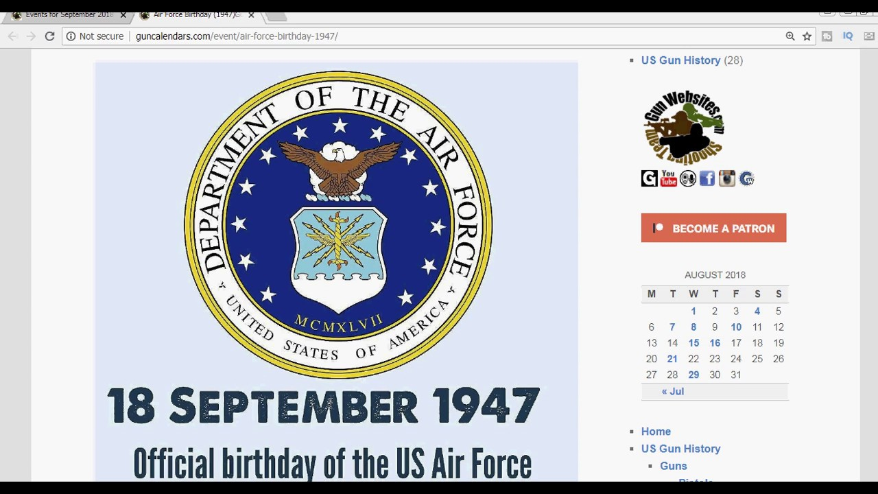 Air Force Birthday 1947 Youtube