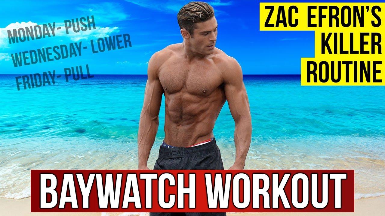 Zac Efron Workout Routine For Baywatch 2017 (Celebrity ...