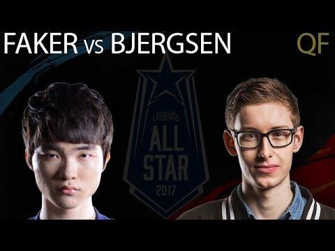 Faker Syndra vs Bjergsen Taliyah Quarterfinals 1v1 Tournament All-Stars 2017