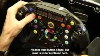 Description du volant d'une F1 Lotus E21, par Romain Grosjean