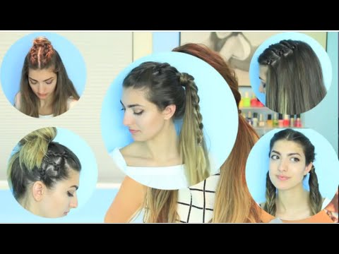 Disney Princess 5 Easy Back To School Hairstyles Short Or Long Hair Youtube