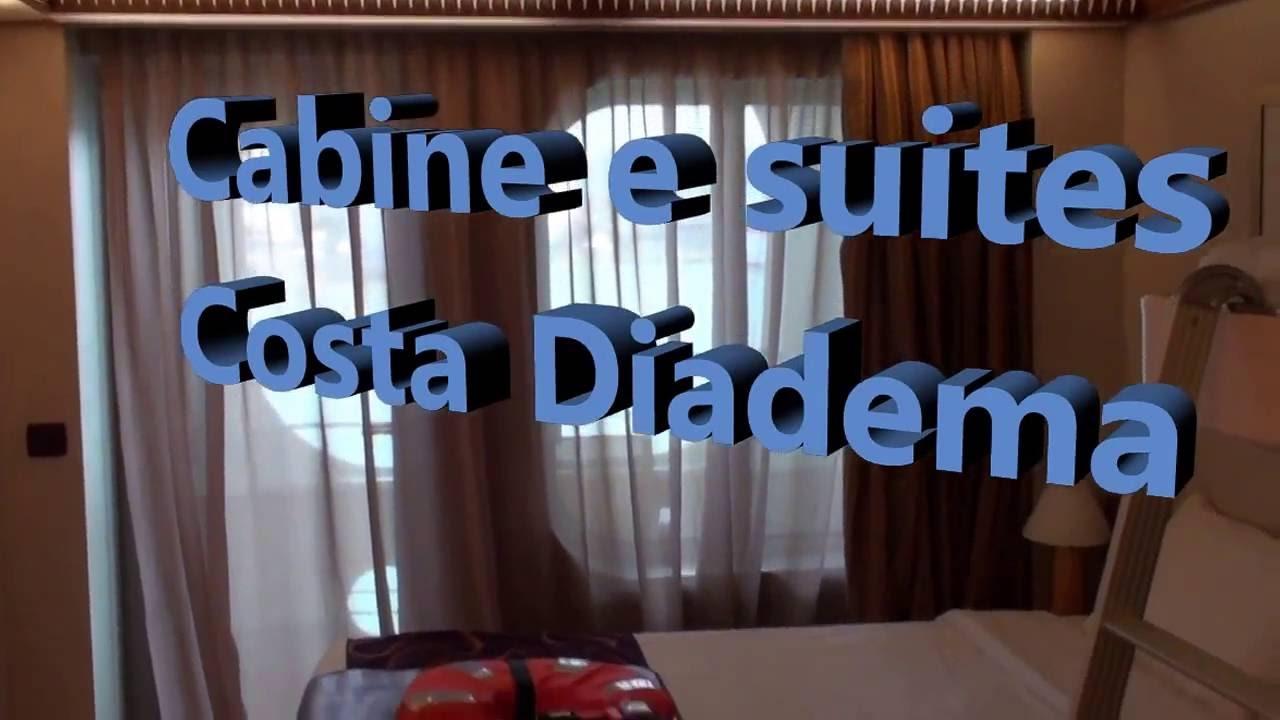 un video che vi mostra tutte le tipologie di cabine di costa diadema