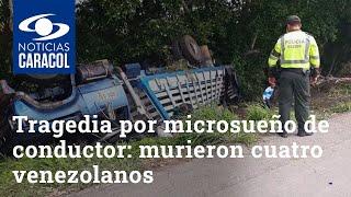 Tragedia por microsueño de conductor: murieron cuatro venezolanos que recogió en la vía