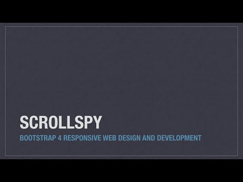 Bootstrap 4 (Alpha 6) components: Scrollspy - YouTube