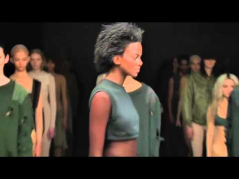 Kim Kardashian, Jay-Z And P Diddy Watch As Kanye West Unveils Yeezy Clothing Line