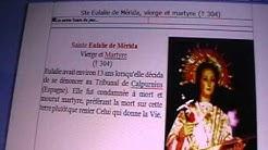 Eulalie Sainte martyr IIIème siècle Cantilène video chanté en la m