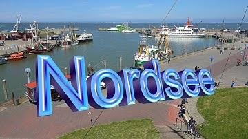 Nordsee - Neuharlingersiel - Café Störmhuus - Traumaussicht - Sandstrand - Strandkörbe - 4K.