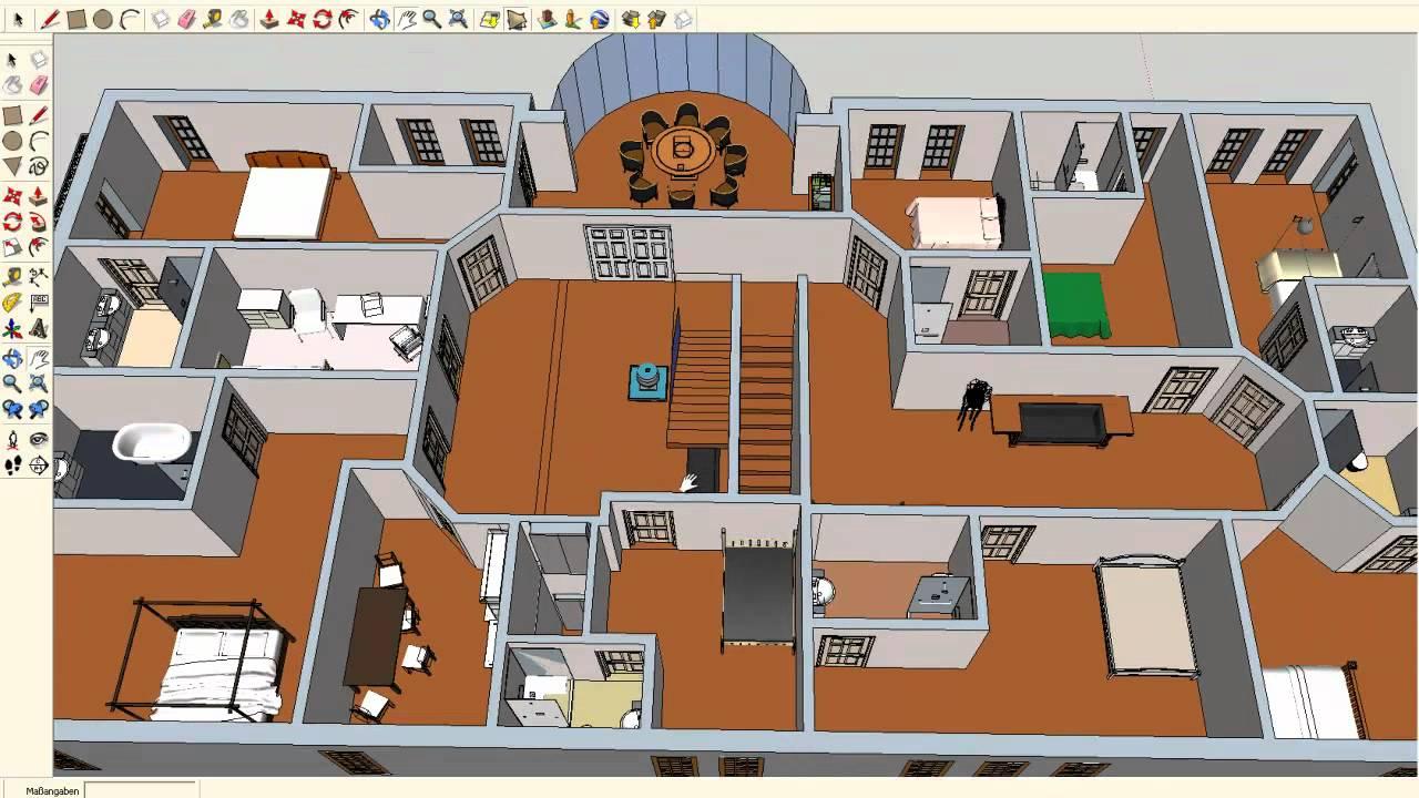 Grundrisse Zeichnen Mit Sketchup : projekt mehrgenerationenhaus, sketchup, 2011  YouTube