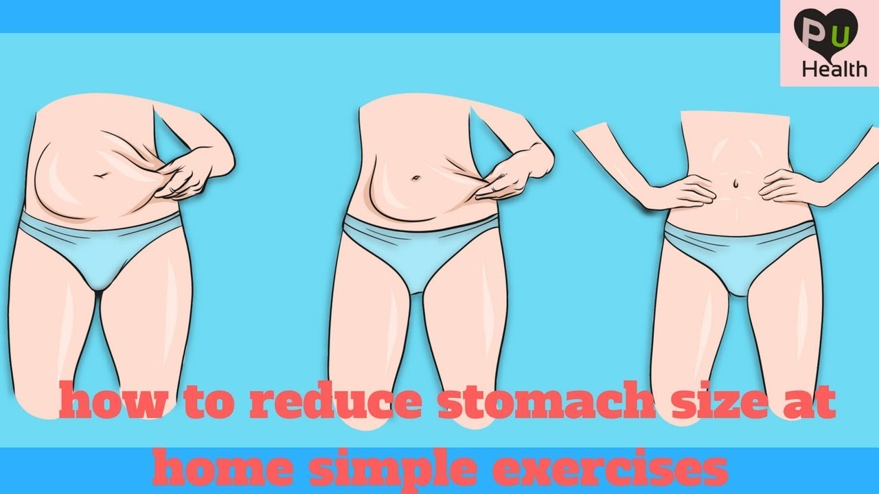 How To Reduce Stomach Size At Home Simple Exercises Youtube
