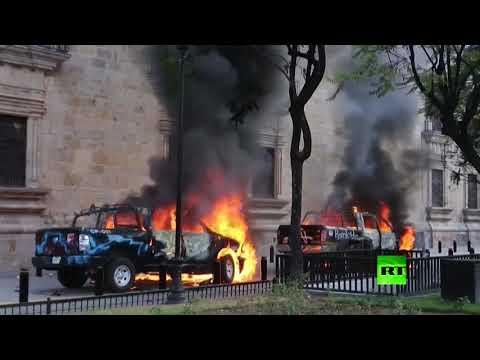 شاهد.. المحتجون في المكسيك يهاجمون مكاتب الشرطة ويكسرون ويحرقون السيارات  - 18:59-2020 / 6 / 5