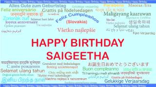 Saigeetha   Languages Idiomas - Happy Birthday