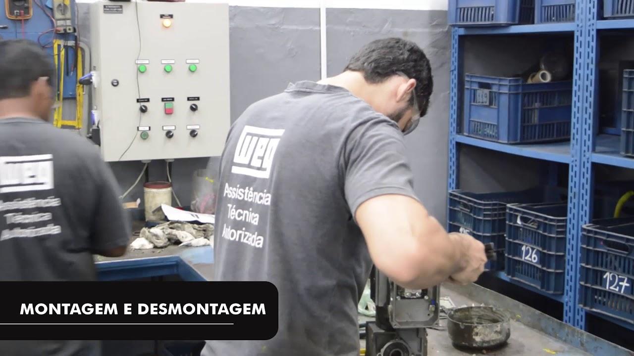 Conheça nossa Oficina de Manutenção Motores Elétricos e Bombas.