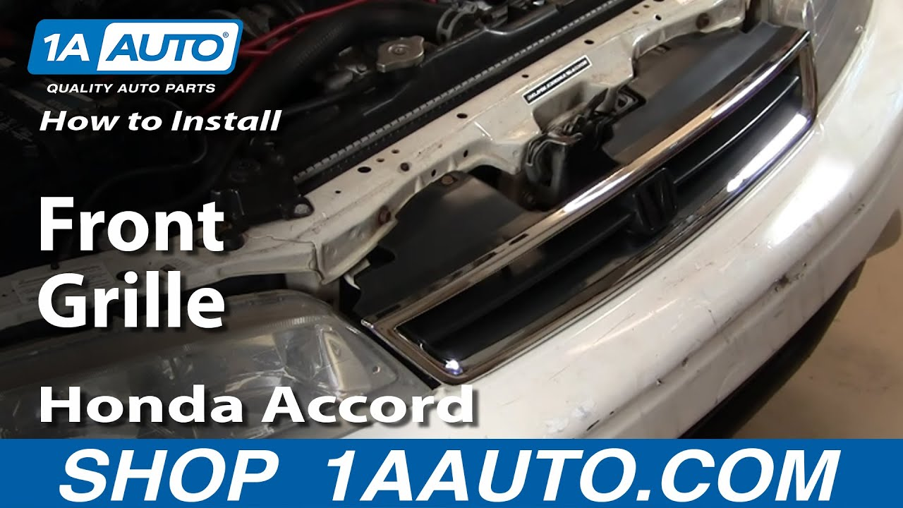 How To Install Replace Front Grille Honda Accord 94 97