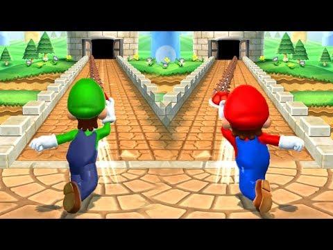 Mario Party 9 - Mario vs Luigi vs Wario vs Peach - Minigames (Master CPU)