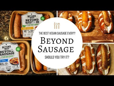 Beyond Sausage Taste Test & Reaction HONEST Review - Beyond Meat Sausage | Vegan Sausage #Vegan FOOD