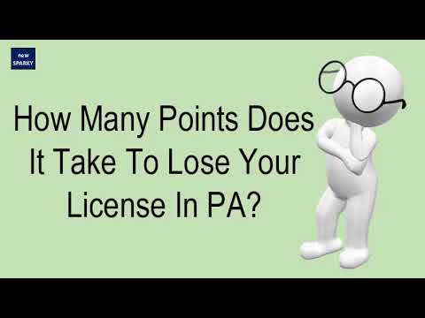 How Many Points Does It Take To Lose Your License In PA?