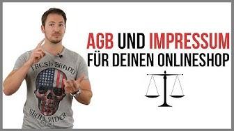 Rechtssichere AGB´s und Impressum für Onlineshops