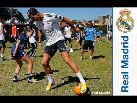 El Real Madrid disfrutó con 64 aficionados en un clinic de Adidas