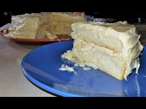 Vanilla Buttercream Cake| Best Box Cake Hack