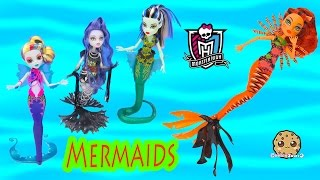 Monster High MERMAID Great Scarrier Reef 2016 Toralei Movie Doll Unboxing - Cookieswirlc