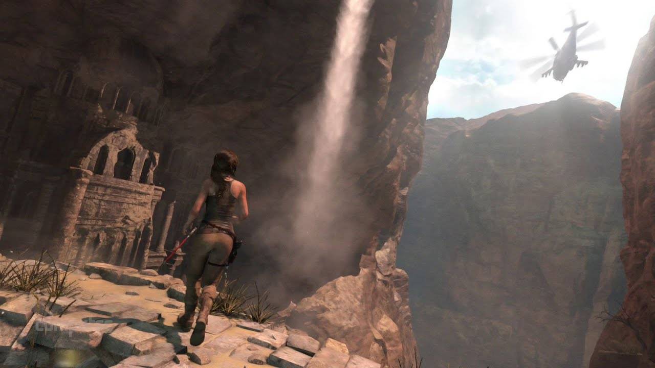 how to get to zipline in rise of the tomb
