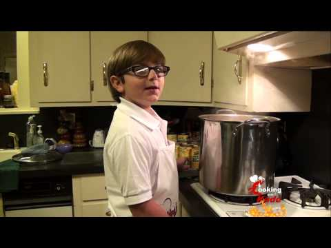 Cooking With Kade, Makes A Creole Corn Soup Recipe on Cajun TV Network