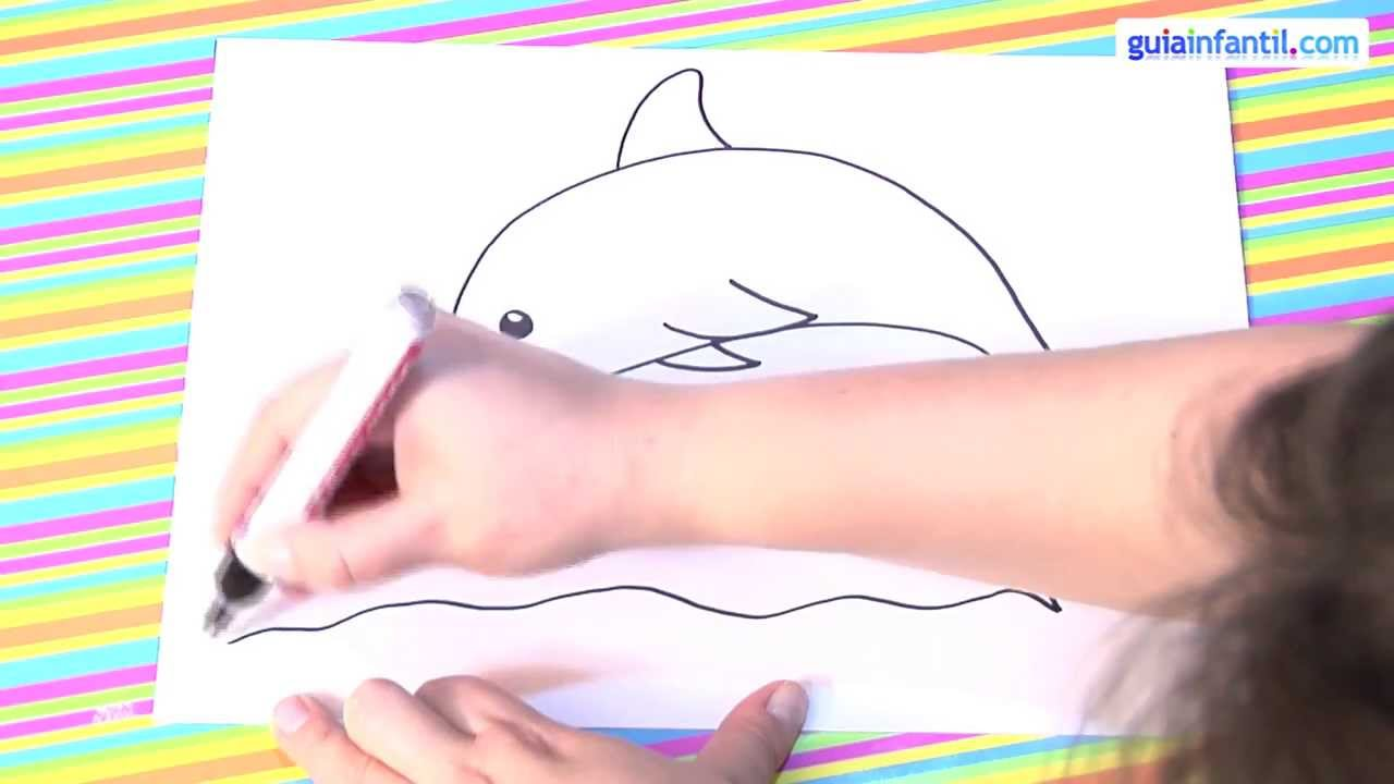 Cómo dibujar un delfín - YouTube