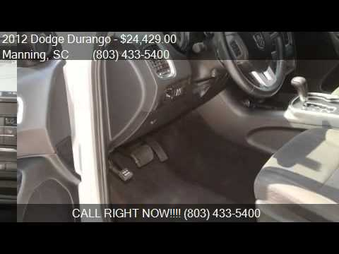 2012 Dodge Durango 2WD 4dr Crew for sale in Manning, SC 2910