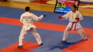 !!!COLOMBIA CAMPEÓN!!!  Karate Do Andrés Rendón Juegos Mundiales Cali 2013