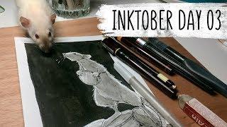 Inktober Day 03 // Rat Speedpaint // Art Process