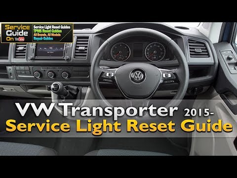 VW Transporter 2015- Service Light Reset