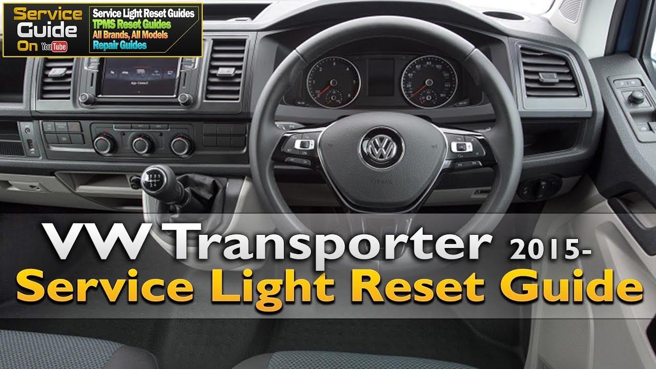 VW Transporter 2015- Service Light Reset