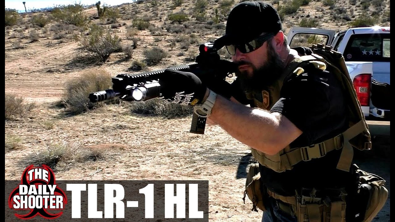Streamlight TLR 1 HL on Rifle Review  YouTube