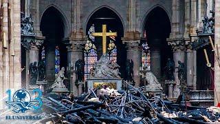 Así quedó por dentro Notre Dame tras incendio