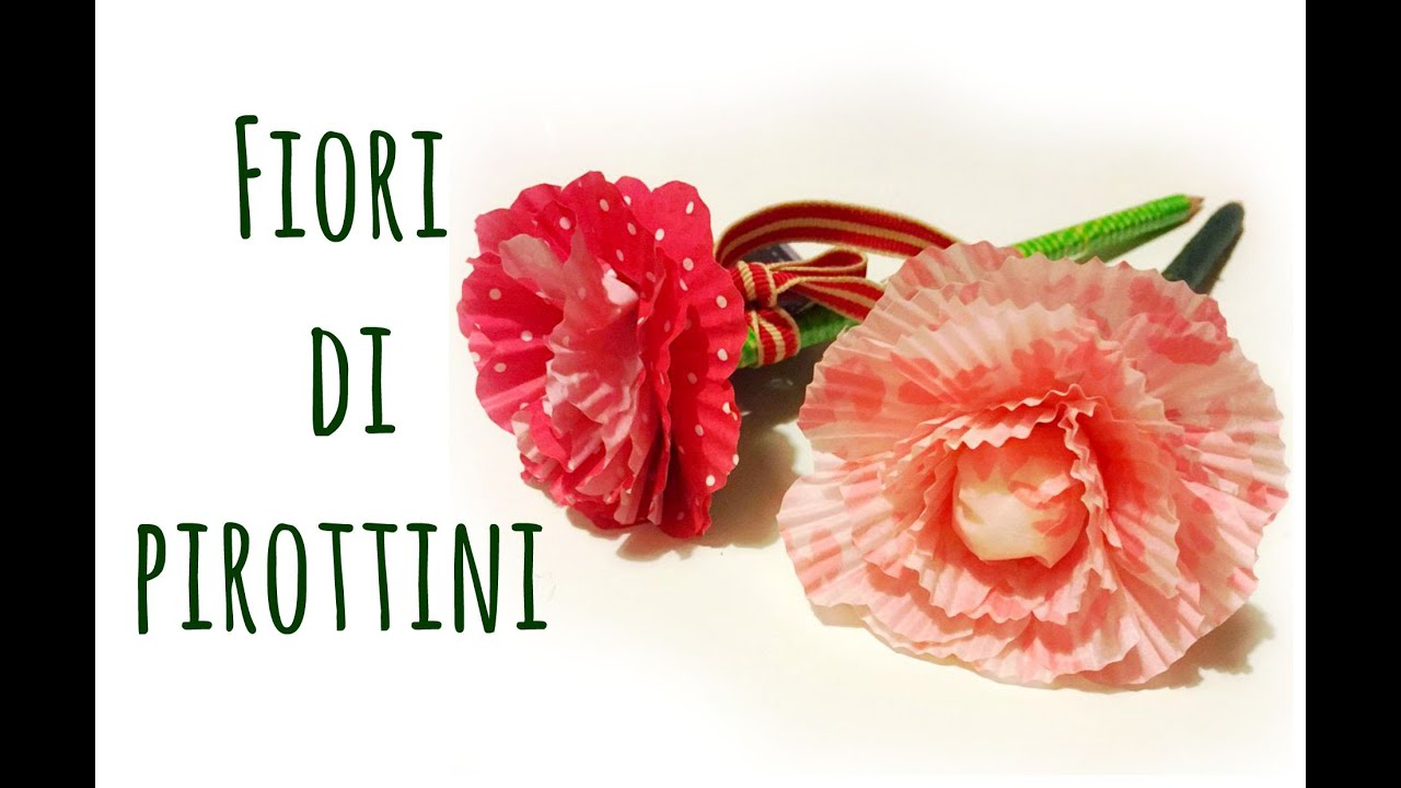 Come fare fiori con pirottini da cucina creativit for Fiori grandi da colorare