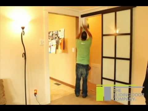 The sliding door company wall slide installation youtube for Sliding door company