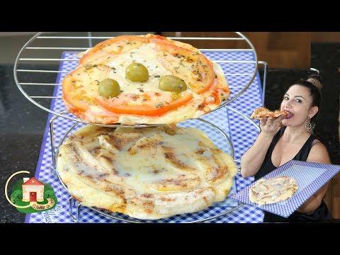 PIZZA CASEIRA - MASSA DIFERENTE COM APENAS 1 INGREDIENTE