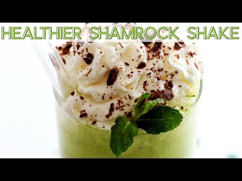 HEALTHIER SHAMROCK SHAKE || Cook with me!
