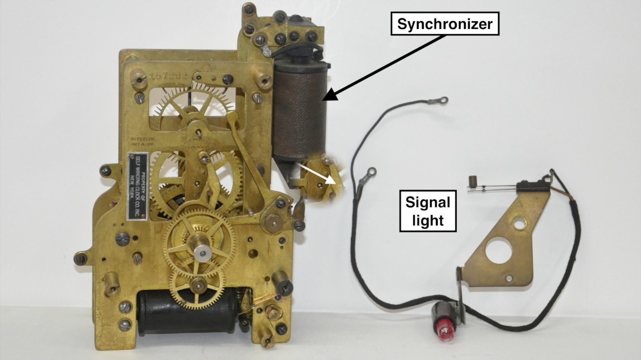 How the Self Winding Clock Company Synchronizer works Western Union Clock Wiring Diagrams on