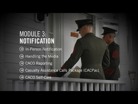 Marine Corps Casualty Assistance Calls Officer Training - Mod 3