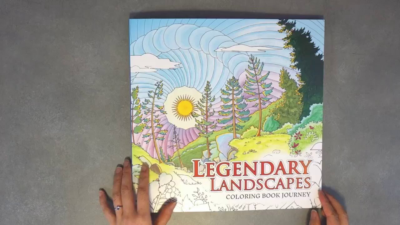 Flip Through Legendary Landscapes Coloring Book Journey